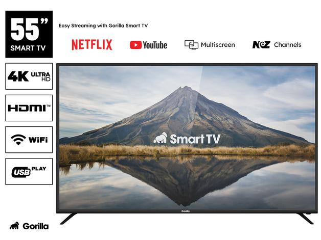 "Gorilla 55"" Smart HDR 4K LED TV"