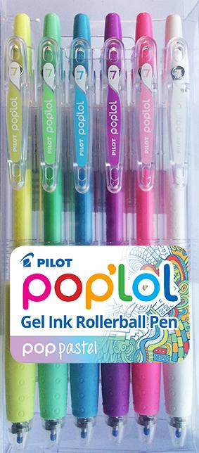 Pilot Pop'Lol Gel Pen 6 Pack - Pastel image