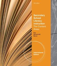 Secondary School Literacy Instruction, International Edition by Barbara Stoodt-Hill