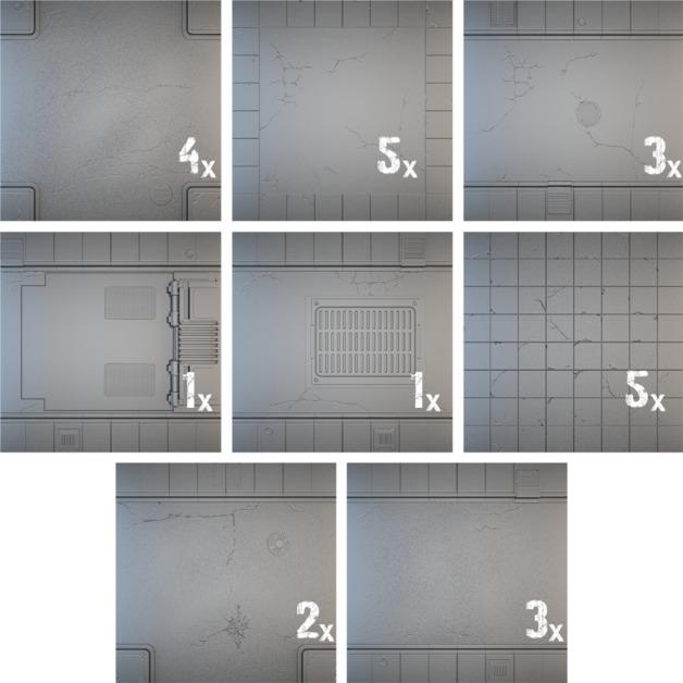 Tablescapes Tiles: Urban Streets - Clean (24 tile set)