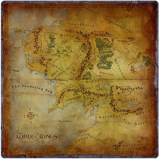 Lord of the Rings: Journeys in Middle Earth - Playmat