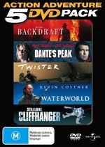Action Adventure 5 DVD Pack (Backdraft / Dante's Peak / Twister / Waterworld / Cliffhanger) (5 Disc Set) on DVD