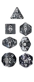 Chessex Translucent Polyhedral Dice Set - Clear