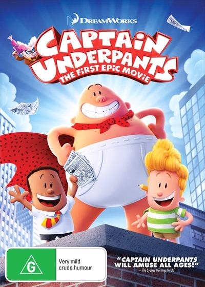 Captain Underpants on DVD image