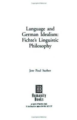 Language And German Idealism by Jere Paul Surber image
