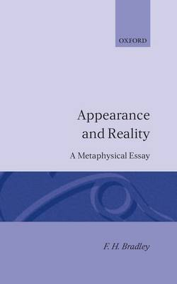 Appearance and Reality by F.H. Bradley image