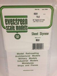 Evergreen Styrene Tile White 15X29cm X1 mm 4.2Sq
