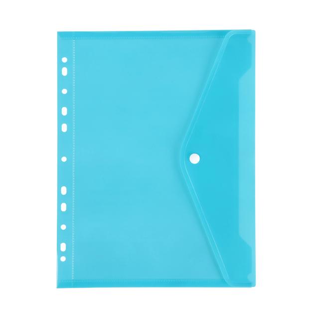 Marbig: Binder Pocket with Button Closure - Marine
