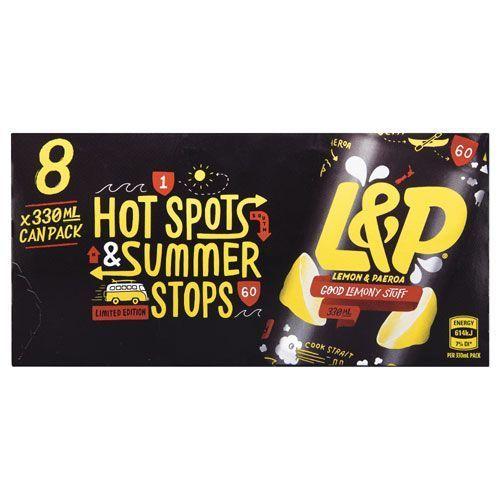 Lemon & Paeroa Soft Drink Cans - 8 Pack (330ml)