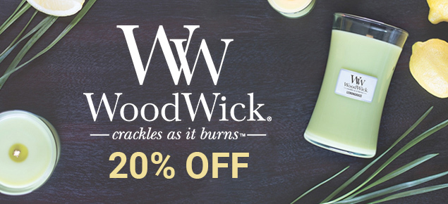 20% off Woodwick Candles!