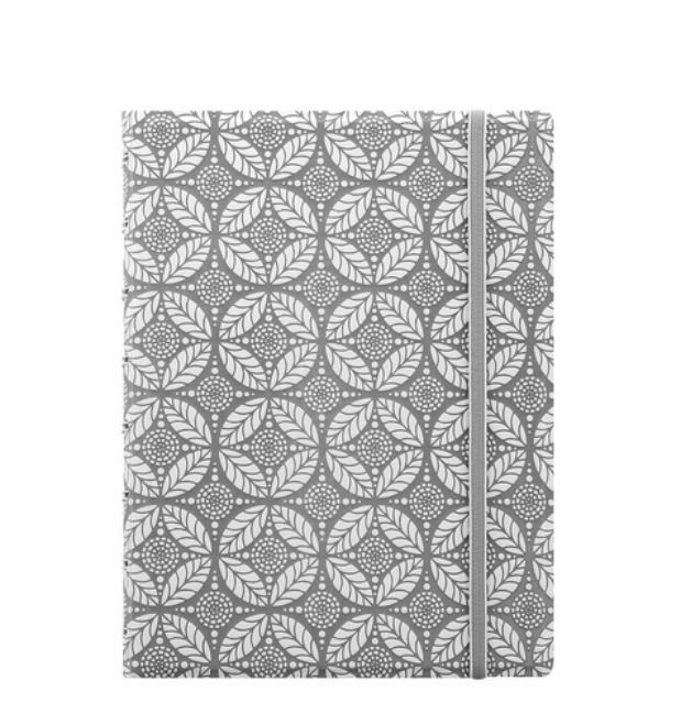 Filofax Impressions A5 Notebook - Grey & White