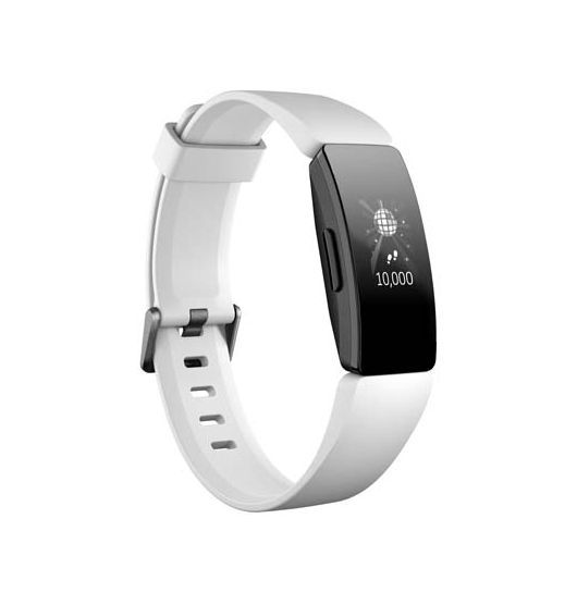 Fitbit Inspire HR Heart Rate & Fitness Tracker - White/Black