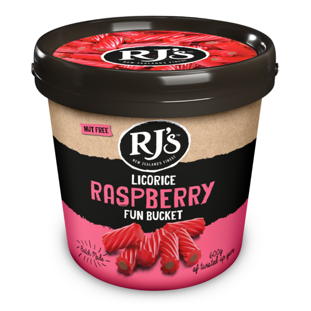 RJ's Licorice Raspberry Fun Bucket 600g