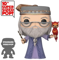 "Harry Potter: Dumbledore (with Fawkes) - 10"" Super Sized Pop! Vinyl Figure image"