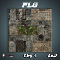 FLG City #1 Neoprene Gaming Mat (4x4)