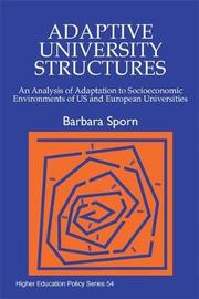 Adaptive University Structures by Barbara Sporn