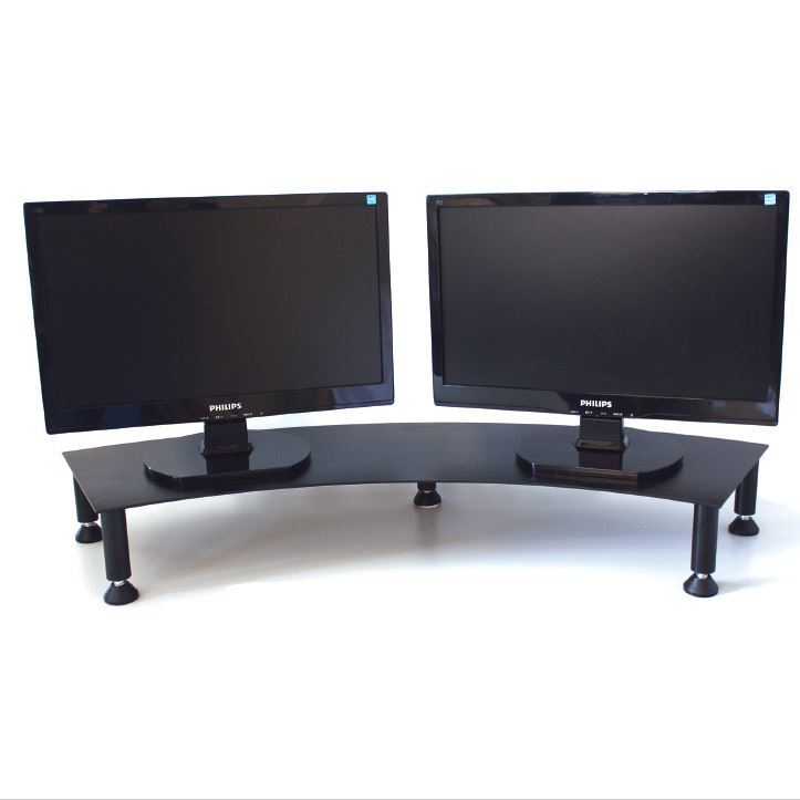 Fluteline Dual Monitor Stand Metal - Black image