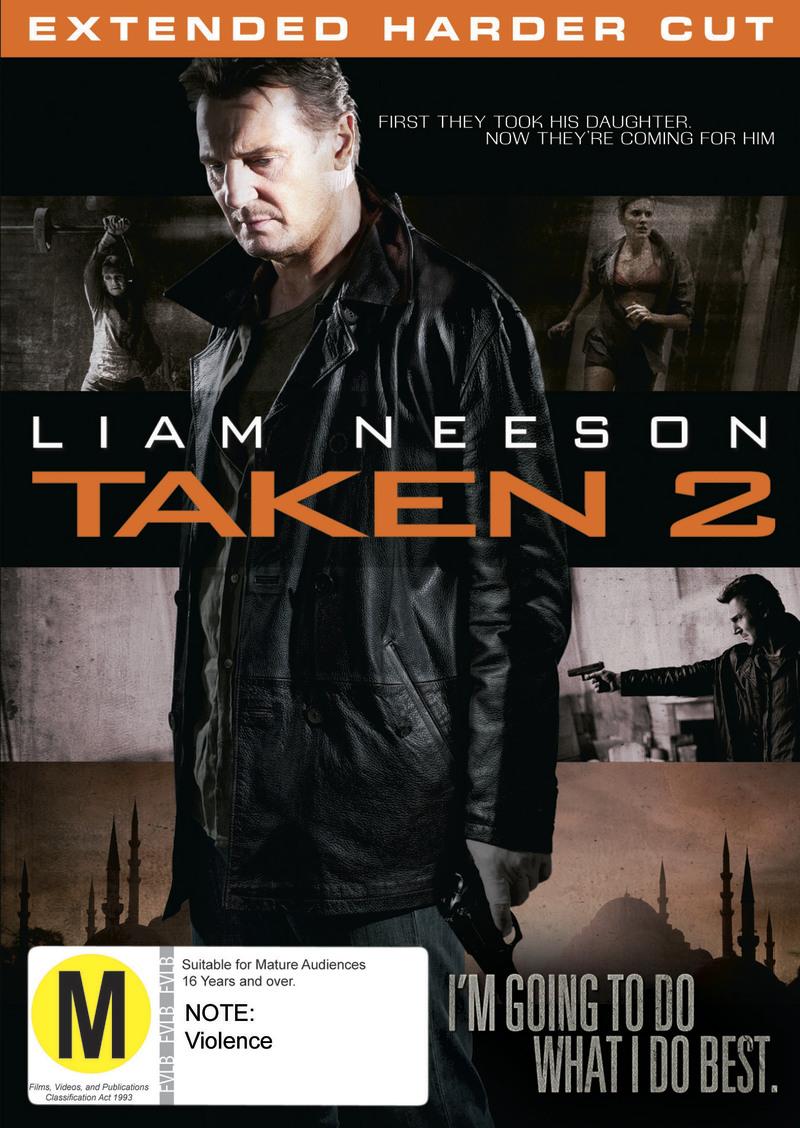 Taken 2 on DVD image