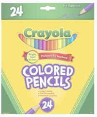 Crayola: 24 Full Size Coloured Pencils