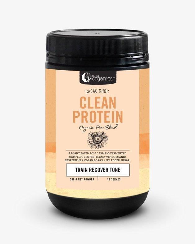 Nutra Organics Clean Protein Powder - Cacao Chocolate (500g)