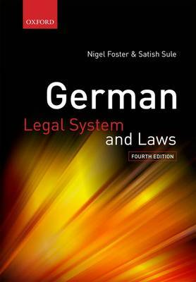 German Legal System and Laws by Nigel Foster image