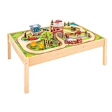 Bigjigs: Fire and Rescue Train Table - 46pcs