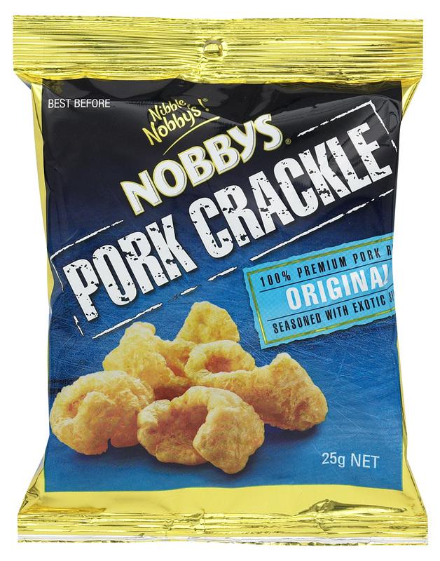 Nobbys Pork Crackle - Original (20 x 25g)