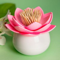 Qualy Lotus Toothpick Holder (Pink)