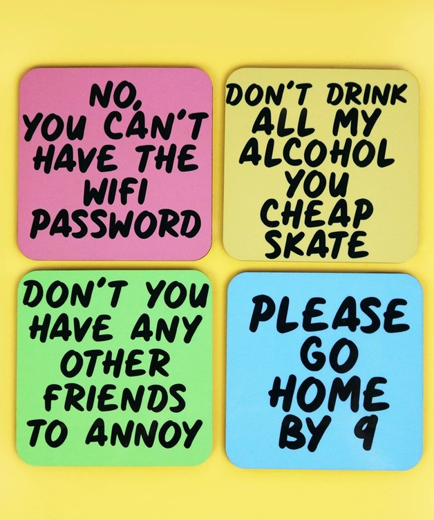 Passive Aggressive Comments For Your Guests Coaster Set