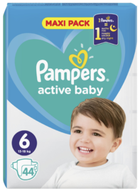Pampers: Active Baby Nappies - XL Size 6 (44 pack) image
