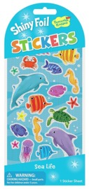 Peaceable Kingdom: Glitter & Foil Stickers - Magical Dolphins image