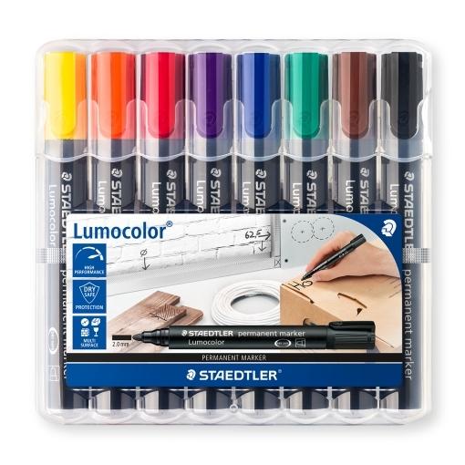 Staedtler: Lumocolor Permanent Bullet Tip Marker (Set of 8)