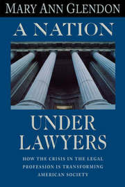 A Nation under Lawyers by Mary Ann Glendon image