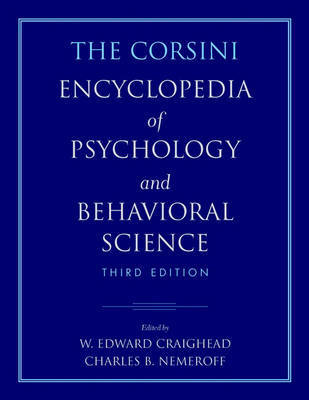 The Corsini Encyclopedia of Psychology and Behavioral Science: Vol. 1 by Raymond J. Corsini image