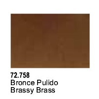 Vallejo Game Air Brassy Brass Acrylic Paint (17ml)