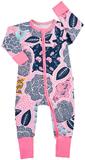 Bonds Zip Wondersuit Long Sleeve - Orient Cool (New Born)