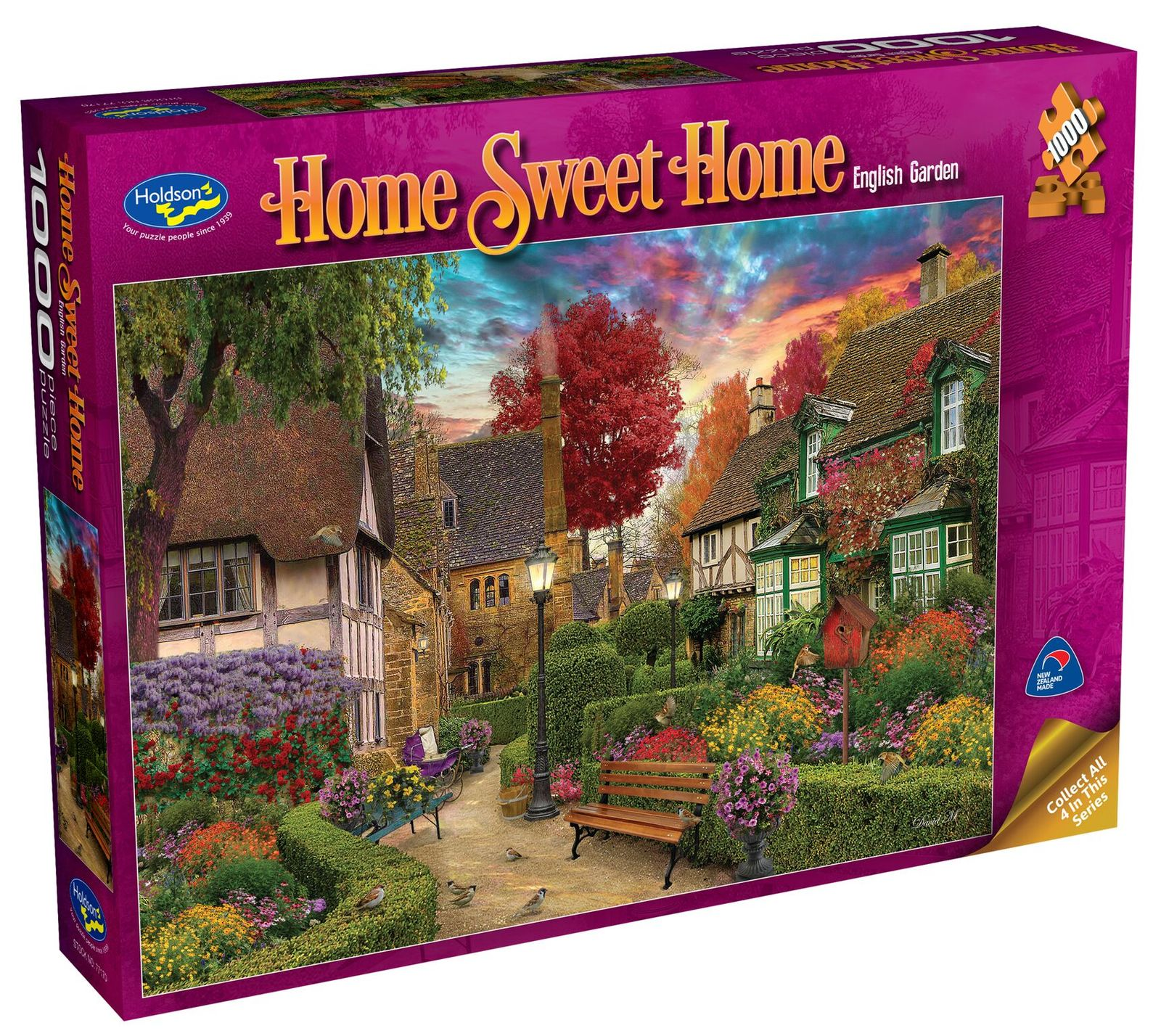 Holdson: 1000 Piece Puzzle - Home Sweet Home S2 (English Garden) image