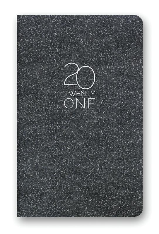 Orange Circle Studio: Leatheresque Mini Monthly Planner 2021 - Onyx Shimmer