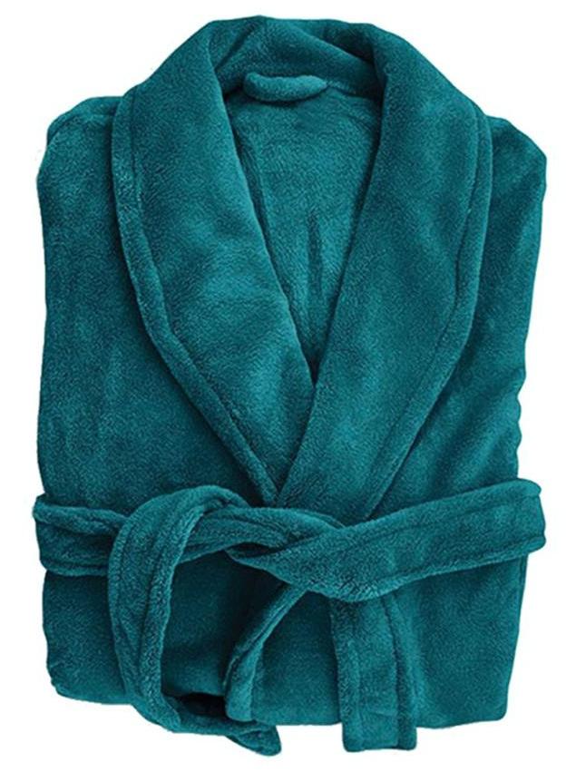 Bambury: Retreat Microplush Robe - Teal M/L image