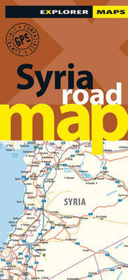 Syria Road Map by Explorer Publishing and Distribution