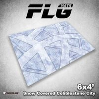FLG Snow Covered Cobblestone City 1 Neoprene Gaming Mat (6x4)