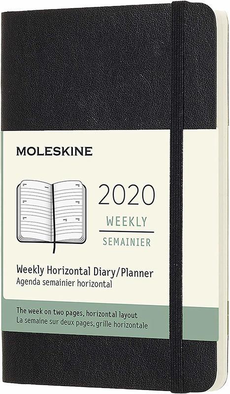 Moleskine: 2020 Diary Pocket Soft Cover 12 Month Horizontal Weekly - Black
