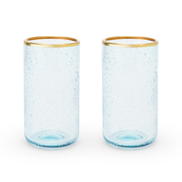 Twine: Seaside - Aqua Bubble Glass Tumbler Set