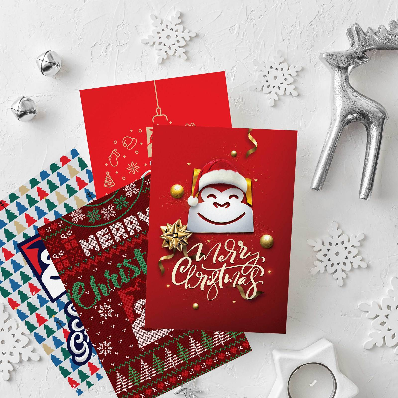 Gorilla Gift: Christmas Cards - Assorted Designs (Pack of 10) image