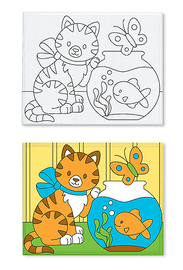 Melissa & Doug: Canvas Creations Kitten & Fishbowl