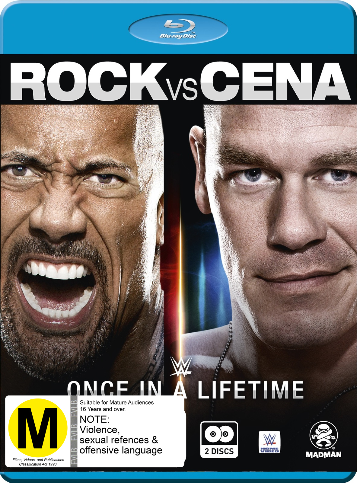 WWE: The Rock Vs. John Cena: Once In A Lifetime on Blu-ray image