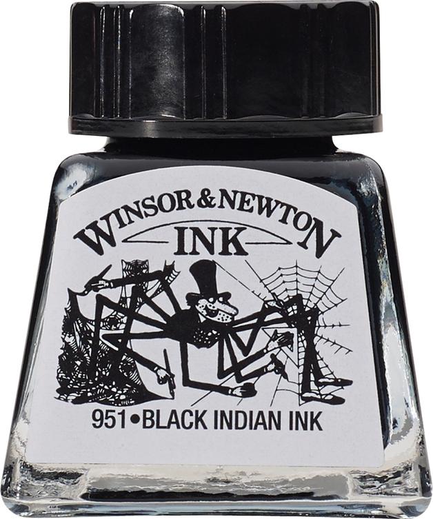 Winsor & Newton: Drawing Ink - Black 030 (14ml)