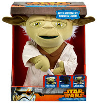 Star Wars - Lightsaber Battle Yoda Deluxe 16-Inch Plush