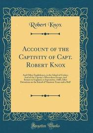 Account of the Captivity of Capt. Robert Knox by Robert Knox image