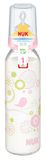 NUK: Classic Glass Bottle With Size 2 Teat - Pink (230ml)